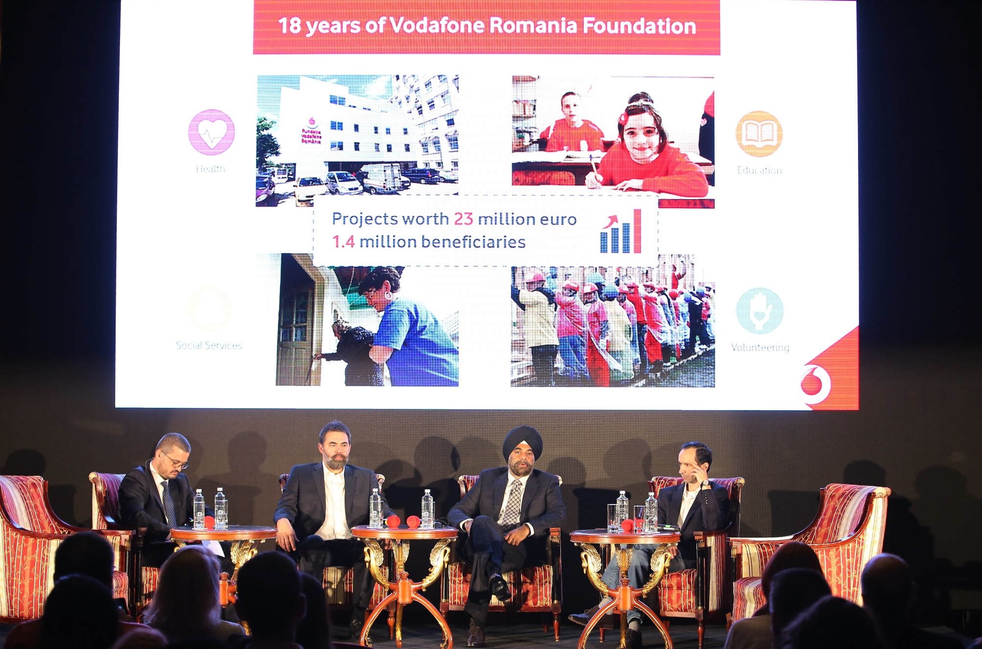 Bilanţ al Fundaţiei Vodafone România – proiecte în valoare de 23 de milioane de euro, pentru 1,4 milioane de beneficiari