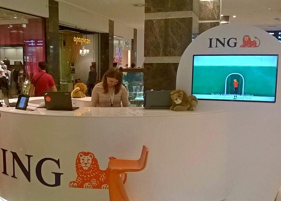 Prin ING Point se pregătesc servicii bancare instant în mall-uri
