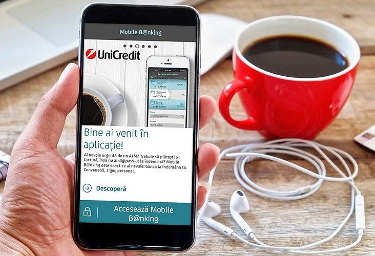 UniCredit  – a doua bancă din România care introduce autentificarea biometrică pe bază de amprentă în serviciul mobile banking