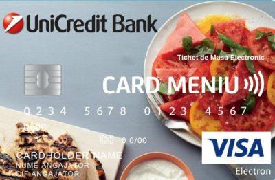 UniCredit Bank ar putea emite primele carduri de masă spre finalul lunii octombrie