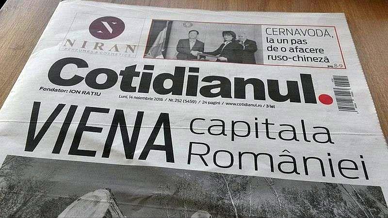 Cornel Nistorescu a readus Cotidianul pe hârtie de ziar