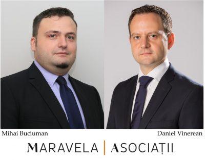 Noi managing associates în departamentul de consultanță al Maravela & Asociaţii