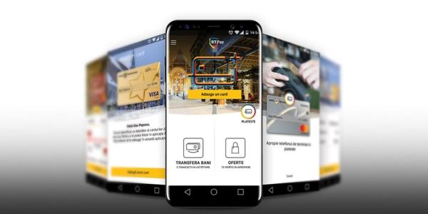 Banca Transilvania a lansat BT Pay, aplicație ce permite cumpărături  contacless şi transfer de bani prin smartphone