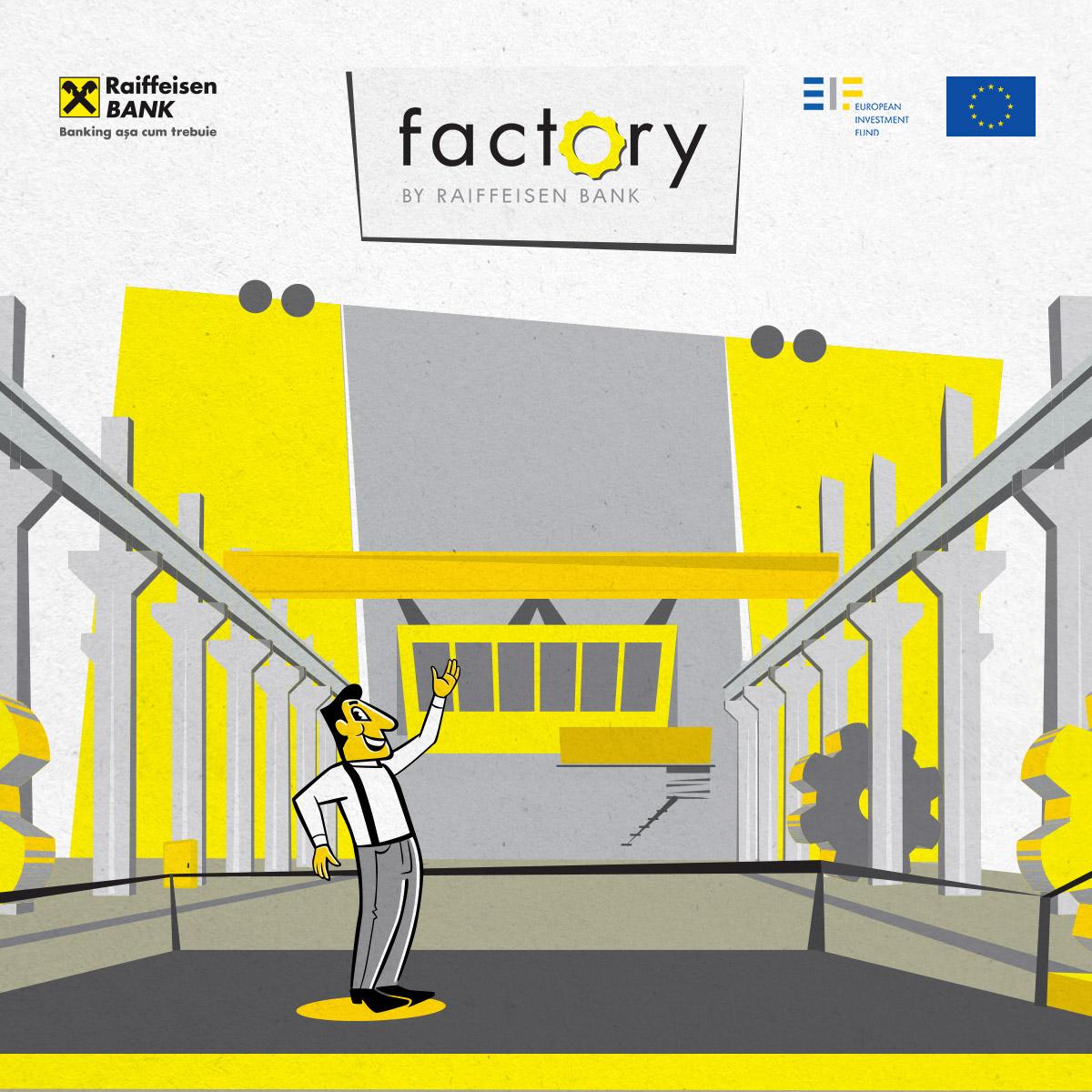 "Raiffeisen Bank da startul unei noi ediţii a programului de finanţare pentru antreprenori ""factory by RAIFFEISEN BANK"""