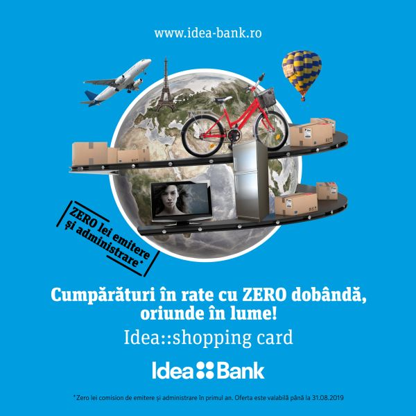 Idea::Bank lansează Idea::shopping card, cardul de credit cu rate oriunde în lume