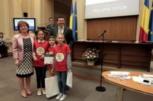 Echipa Pasi spre viitor - Premiul MasterCard pentru cel mai inovator proiect