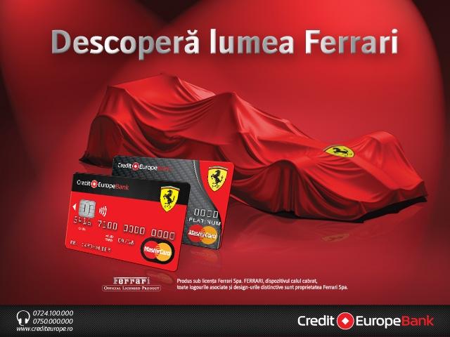 Credit Europe Bank lansează Ferrari Card