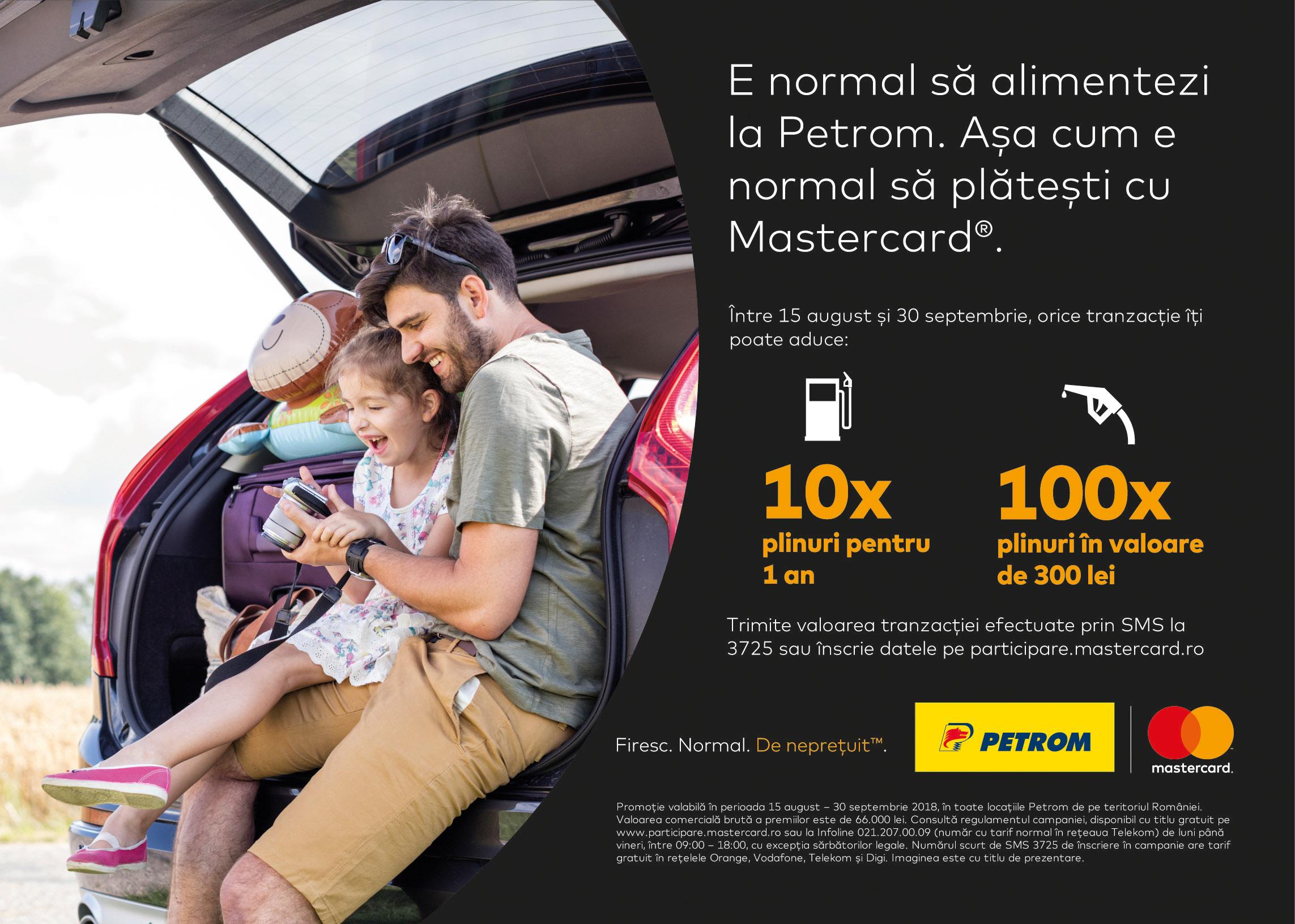 Mastercard și stațiile Petrom încurajează românii să opteze pentru plățile cu cardul în benzinării