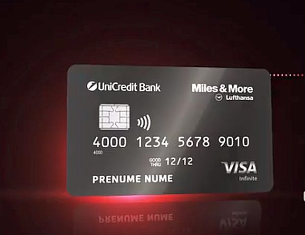 UniCredit Bank a lansat primul card de credit Visa Infinite din România