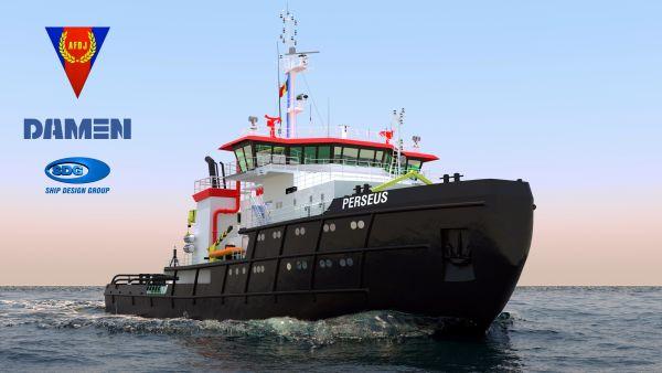 Șantierul Naval Damen Mangalia va moderniza spărgătorul de gheață Perseus, cel mai mare remorcher sub pavilion românesc