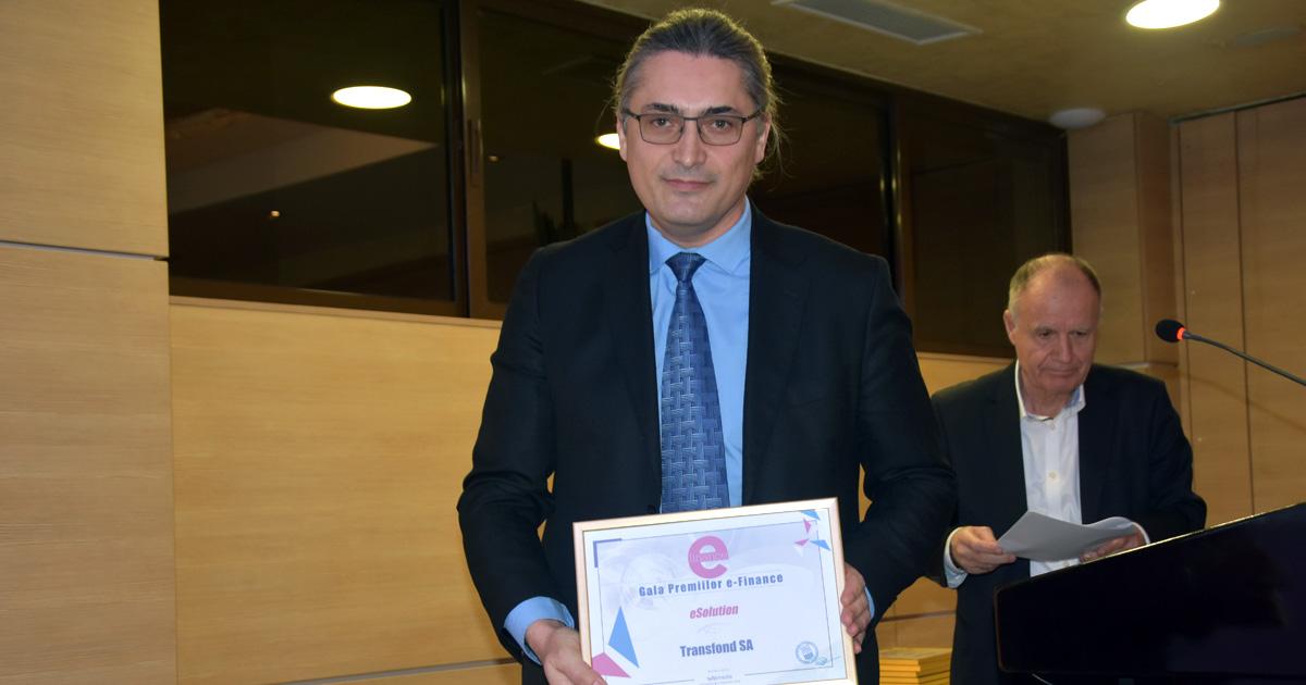TRANSFOND, premiat la ediţia a XVII-a Galei e-Finance
