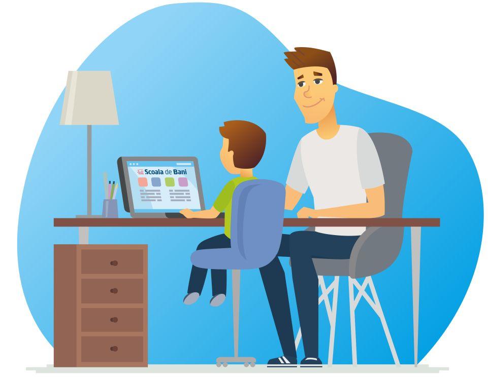 Școala de Bani se mută exclusiv în online: resurse utile pentru copii și adulți