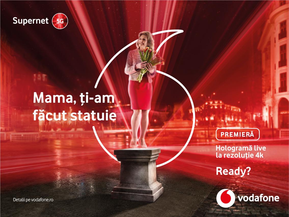 Vodafone România creează primele holograme live la rezoluție 4K din lume