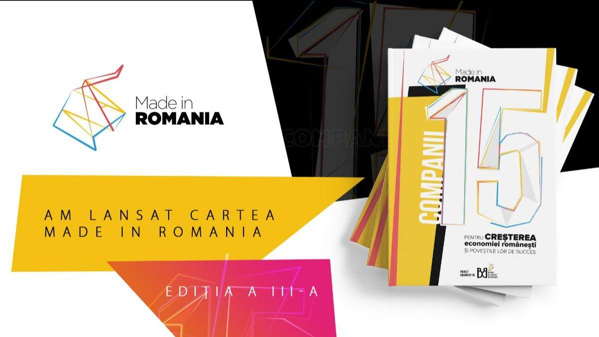 BVB lansează cartea cu poveștile de succes ale celor 15 companii finaliste ale celei de-a treia ediții a programului Made in Romania