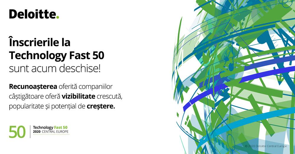 Deloitte România deschide înscrierile pentru cea de-a 21-a ediție a competiției Technology Fast 50 Europa Centrală