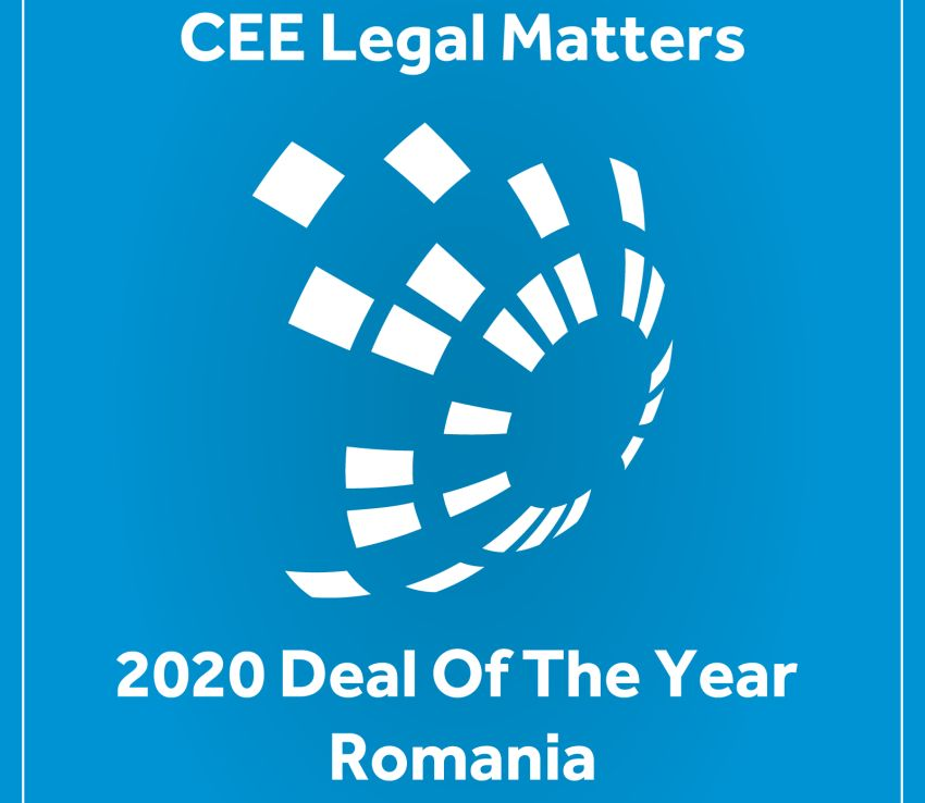 RTPR câștigă premiul pentru Tranzacția anului 2020 în România, acordat de CEE Legal Matters