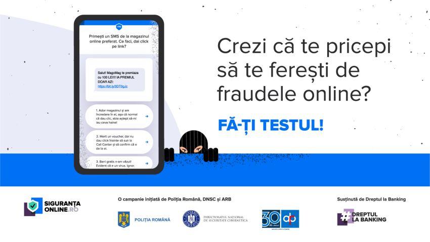 Poliția Română, Directoratul Național de Securitate Cibernetică și Asociația Română a Băncilor lansează #siguranțaonline, o campanie de informare despre cum să ne protejăm de fraudele online